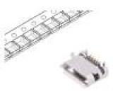 Zásuvka USB B micro na PCB SMT, THT PIN:5 vodorovné V: USB 2.0