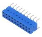 Zásuvka kabel-pl.spoj zásuvka DUBOX 2,54mm PIN:20 THT 2A