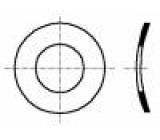 Podložka pérová, vypouklá M3 D=6mm h=0,65mm pružinový bronz