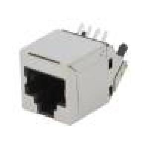 Zásuvka RJ45 PIN:8 Kat:6 stíněný Uspořádání výv:8p8c THT
