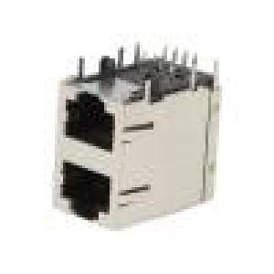 Zásuvka RJ45 PIN:8 Kat:5 stíněný Uspořádání výv:8p8c