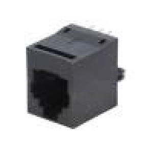 Zásuvka RJ12 PIN:6 Kat:5 Uspořádání výv:6p6c THT přímý