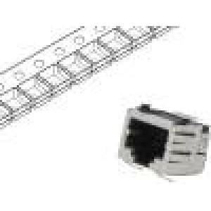 Zásuvka RJ45 PIN:8 Kat:5 Uspořádání výv:8p8c SMT vodorovné