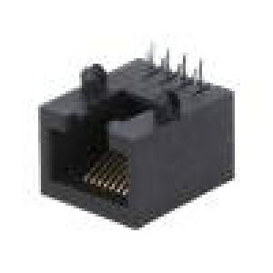 Zásuvka RJ45 PIN:8 Kat:5 Uspořádání výv:8p8c THT úhlový