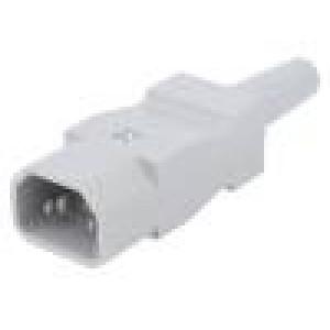 Konektor: napájecí AC Provedení: C14 (E) zástrčka 10A na kabel