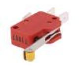 Mikrospínač SNAP ACTION s páčkou (s kladkou) SPDT 10A/400VAC