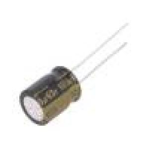 Kondenzátor elektrolytický THT 100uF 63VDC Ø10x12,5mm ±20%