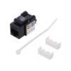 Zásuvka RJ45 PIN:8 Kat:6 stíněný, Keystone 22÷26AWG přímý