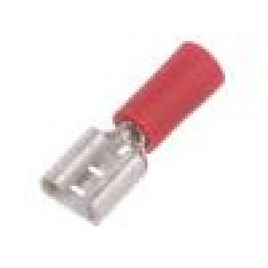 Konektor: plochý 6,3mm 0,8mm zásuvka 0,5÷1mm2 krimpovací