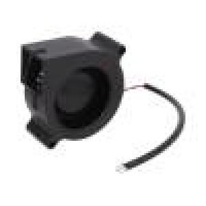 Ventilátor: DC blower 12VDC 60x60x25mm 9,3m3/h 29dBA