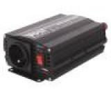 Měnič: automobilový dc/ac 500W Uvýst:230VAC 10,5÷15,5VDC 92%