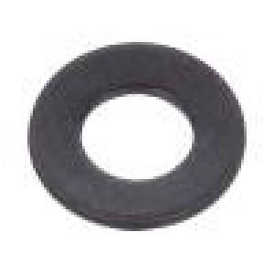 Podložka kulatá M3 D=7mm h=0,5mm ocel Povlak: černěné