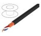 Vodič: mikrofonní černá Cu PVC -30÷70°C Ø6,5mm stíněný