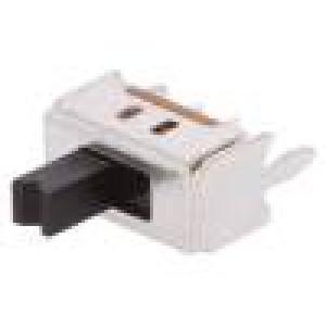 Přepínač: posuvný Polohy:2 SPDT 0,1A/12VDC ON-ON Montáž: THT