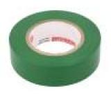 Páska: elektroizolační W:19mm L:20m D:0,13mm zelená