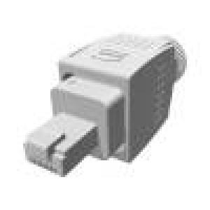 Zástrčka RJ45 PIN:8 Kat:6a stíněný Uspořádání výv:8p8c