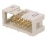 Zásuvka IDC vidlice PIN:10 přímý nízkoprofilové THT 2,54mm