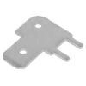 Konektor: plochý 6,3mm 0,8mm kolík THT pocínovaný úhlové 90°