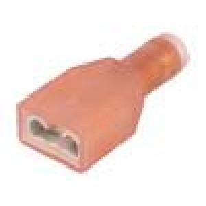 Konektor: plochý 6,3mm 0,8mm zásuvka 0,3÷0,75mm2 krimpovací