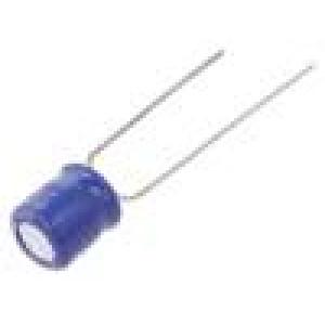 Kondenzátor elektrolytický THT 220uF 6,3VDC Ø6,3x7mm ±20%
