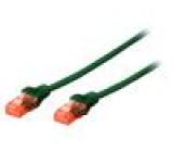 Patch cord U/UTP 5e licna CCA PVC zelená 2m