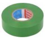 Izolační páska PVC 15mm L:10m zelená