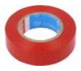Izolační páska PVC 50mm L:25m červená