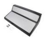 Kryt: panelová ABOX X:400mm Y:230mm Z:147mm ABS černá