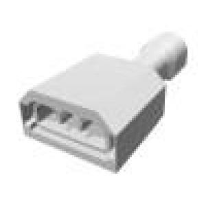 Konektor: plochý 6,3mm 0,8mm zásuvka 0,32÷0,82mm2 krimpovací