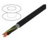 Vodič JZ-500-C 4G1mm2 stíněný PVC černá 300/500V