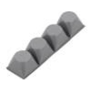 Samolepící nožička H:13,2mm šedá polyuretan Rozm:20,6x20,6mm