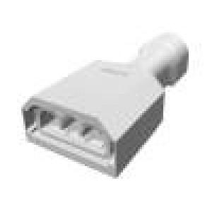 Konektor: plochý 6,3mm 0,8mm zásuvka 1,31÷2,08mm2 krimpovací
