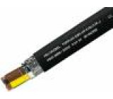 Vodič TOPFLEX-EMV-UV,2YSLCYK-J licna Cu 4G4mm2 PE černá