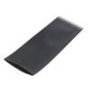Teplem smrštitelná trubička pružné 2:1 76mm L:10m černá