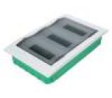 Kryt: pro modulová zařízení IP40 Montáž: pod omítku Barva: bílá