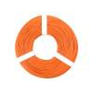 Vodič licna Cu 1x0,25mm2 PVC oranžová 100V -10÷85°C 50m