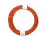 Vodič drát Cu 1x0,20mm2 PVC oranžová 60V -10÷85°C 10m