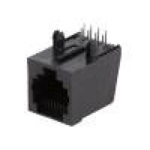 Zásuvka RJ45 PIN:8 Uspořádání výv:8p8c THT úhlový