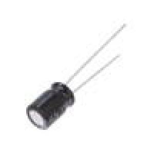 Kondenzátor: elektrolytický THT 220uF 6,3VDC Ø6,3x9mm ±20%