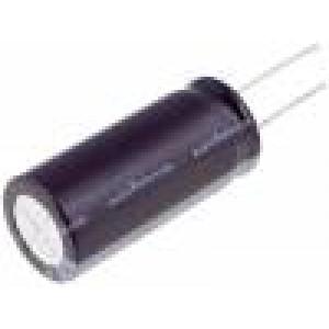 Kondenzátor: elektrolytický THT 100uF 6,3VDC Ø6,3x7mm ±20%