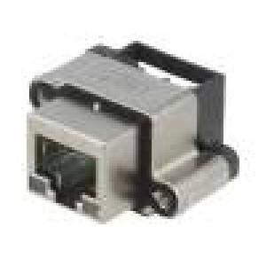 Zásuvka RJ45 s diodou LED IP67 THT do panelu úhlové 90°