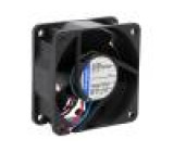 Ventilátor: DC axiální 60x60x25mm 56m3/h 43dBA kluzné