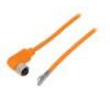 Připojovací kabel M12 PIN: 4 úhlový 5m zástrčka 240VAC 4A