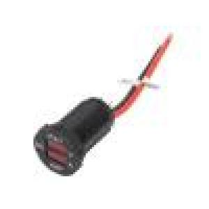 Voltmeter with ammeter Sup.volt: 7÷33VDC VDC range: 7÷33V red