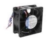 Ventilátor: DC axiální 80x80x38mm 220m3/h 71dBA kuličkové