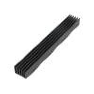 Chladič: lisovaný žebrovaný černá L: 150mm W: 21mm H: 14mm