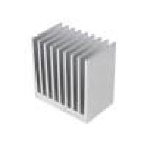 Chladič: lisovaný žebrovaný přírodní L: 50mm W: 80mm H: 80mm