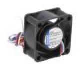 Ventilátor: DC axiální 40x40x20mm 10m3/h 18dBA kluzné
