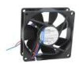 Ventilátor: DC axiální 80x80x25mm 45m3/h 21dBA kuličkové