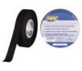 Páska: izolační W: 19mm L: 25m D: 0,18mm černá kaučukové 70N/cm